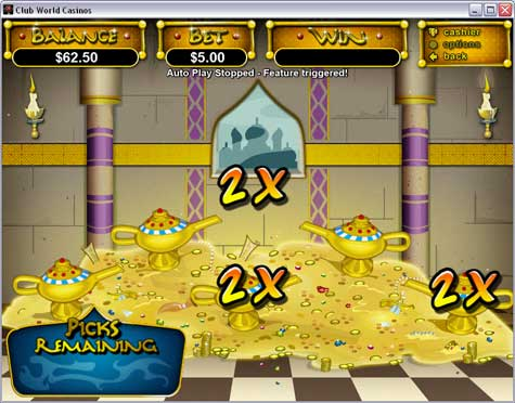 Aladdin's Wishes Slot Feature
