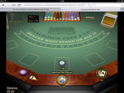 Microgaming Mobile Blackjack (iPad)