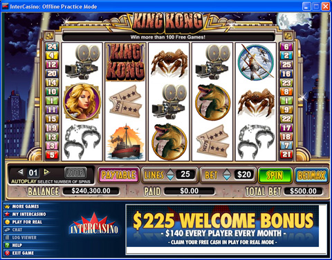 Play King Kong Slot Machine at Intercasino